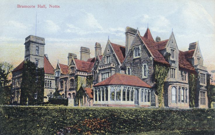 Postcard of Bramcote Hall. This image dates from around 1909.