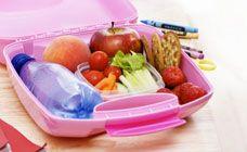 healthy lunch box, school, lunch, treat, fresh, water, fruit, veg