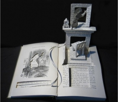 Alice:Through the Looking Glass   Sue Blackwell - paper artist