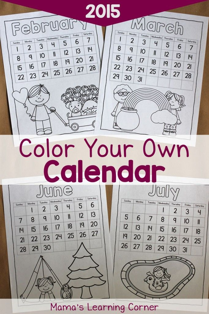 Mama's Learning Corner has FREE printable Calendars. This packincludes three types of calendars.  You'll find calendars with the dates fille