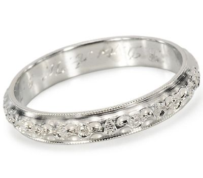 Dated 1929. Signed Belais Vintage Eternity Ring - The Three Graces