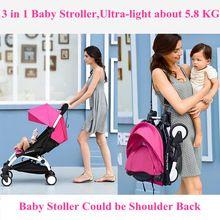 Kinderwagen 3 in 1 Opvouwbare Paraplu Baby Auto Multifunctionele Babies Rijtuigen met Baby Auto Veilig Zetels Gratis Drop Verzending(China (Mainland))