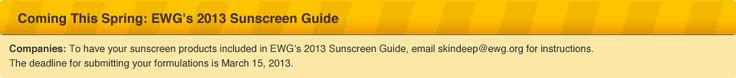 list of non toxic sunscreens! Best Beach & Sport Sunscreens | EWGs Skin Deep® | 2012 Sunscreen Report
