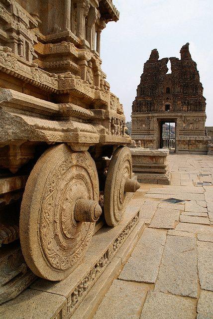 Stone Chariot, Hampi, Karnataka, India, by clara & james, via Flickr