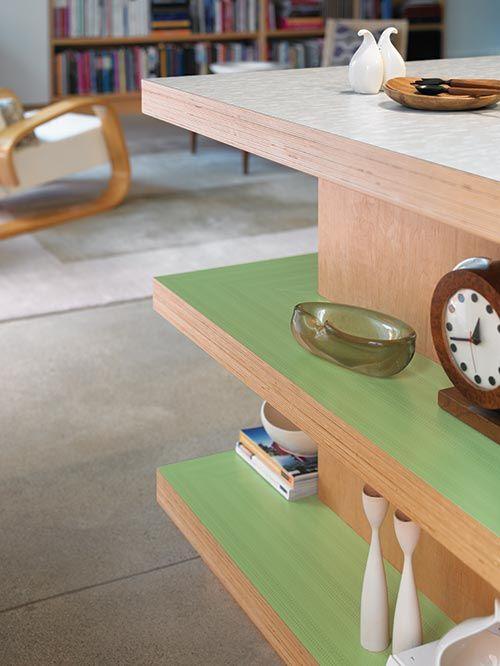 Formica's 100th Anniversary Collection makes for a retro rad counter top renovation. via Coast Design in Mobile, Alabama