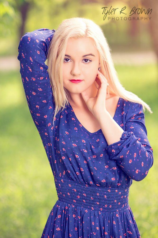 Kelsey Auldridge - Berkner High School - Senior Portraits - Class of 2015 - Towne Lake Park - Senior Pictures - Dallas, Texas - Blue Dress - Spring - #seniorportraits - High School - Tyler R. Brown Photography