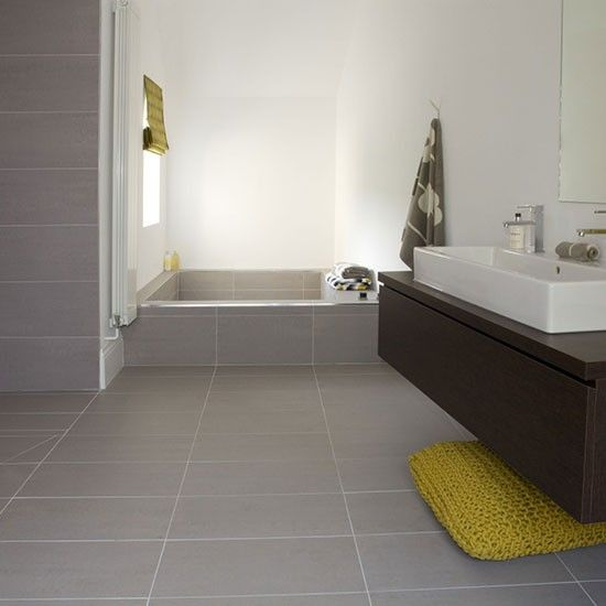 Porcelain flooring | Bathroom flooring | Bathroom | PHOTO GALLERY | 25 Beautiful Homes | Housetohome.co.uk