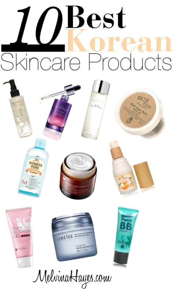Top 10 Korean Skincare Products: MelvinaHayes.com