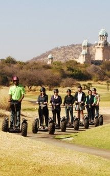 Segway Gliding Tours - The Segway gliding tours are fun-filled ways to explore South Africa's natural gems. Sun City, Durban's Moses Mabhida Stadium, Grabouw and Spier Estate in Stellenbosch also offer tours for up to 10 people. A coach only needs a few minutes to teach you all the manoeuvres to enjoy the glide of your life. Tours range from 45 minutes to 2 hours. Children younger than 10 are not permitted, and those under 13 are not permitted on the off-road route.