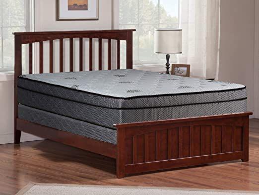 75 X 30 Greaton Medium Plush Eurotop Pillowtop Innerspring Mattress And 8 Wood Box Spring//Foundation Set
