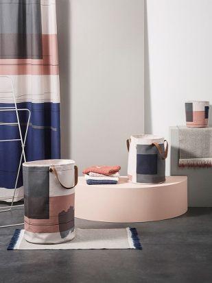 Colour Block Laundry Basket