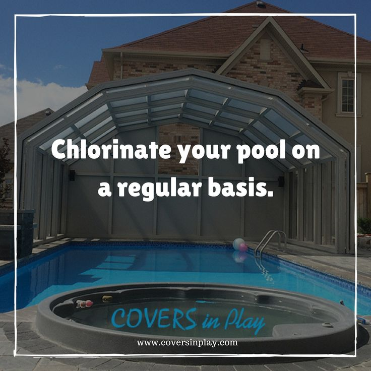 Bacteria and algae are unwanted guests at a pool party. Your chlorine level should always fall between 1 & 4 ppm to prevent bacteria & algae.	http://goo.gl/1o01zC #PoolCover #PoolEnclosure #PatioEnclosures #SwimmingPool #EndlessPool #Pool