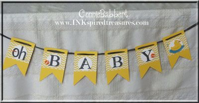 Baby Shower Banner and punch ducky -   InkspiredTreasures.com » Blog Archive » Rubber Ducky Baby Shower part 2