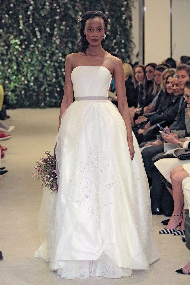 Robe de mariée bustier Carolina Herrera