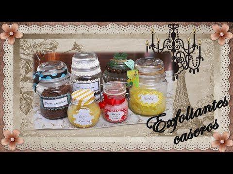 DIY Exfoliantes caseros con envase decorado - Homemade Body Scrubs