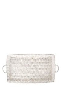 RECTANGULAR WOVEN TRAY WITH HANDLES