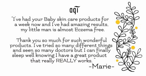 Here at AQI HQ we love hearing from our customers and their experiences with our products just like this amazing review from Marie on our Baby skin care range.Please keep sending them through as we'd love to hear from you too.