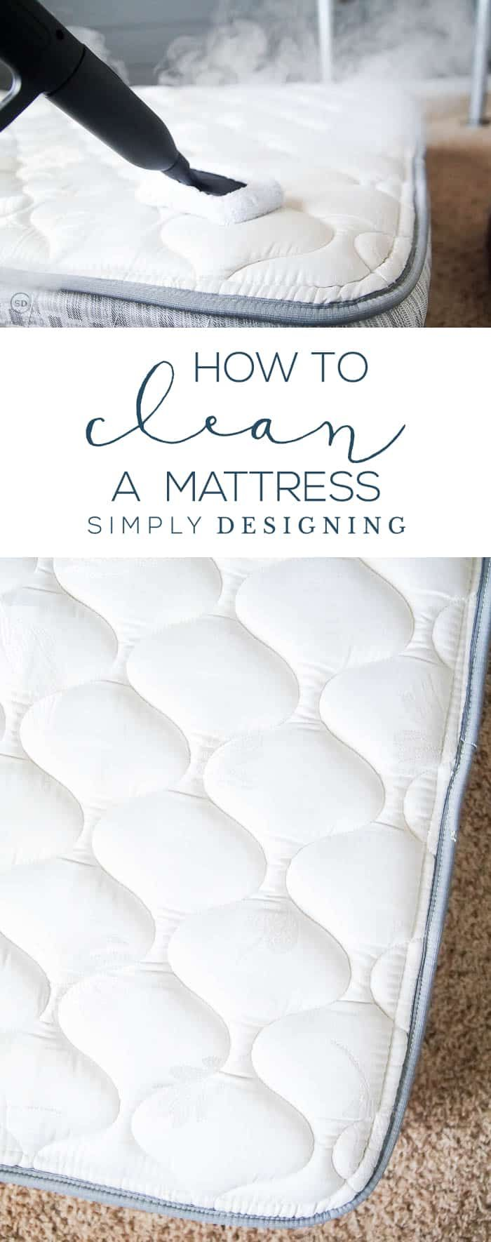 How to Clean a Mattress - deep clean your mattress - can a mattress be steam cleaned