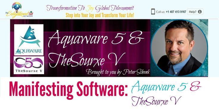 "Welcome to Peter Schenk's Special Offer -  ""UnBelievable! Massive Up to 40% Off"" Aquaware 5 & TheSourxe V Software : Intention & Manifesting Software"