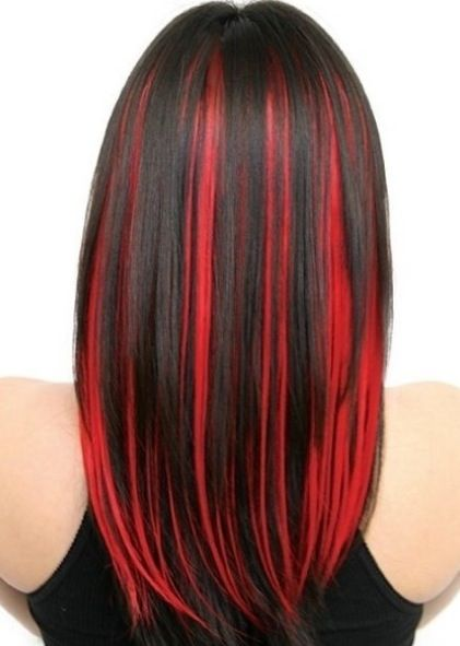 Best 25 black hair red highlights ideas on pinterest red black red and black hair color pmusecretfo Images