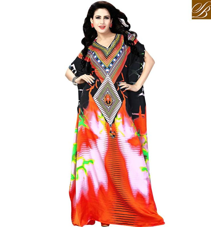 NOTEWORTHY PARTY WEAR DIGITAL PRINTED KAFTAN DESIGN SKKF106 – Stylish Bazaar