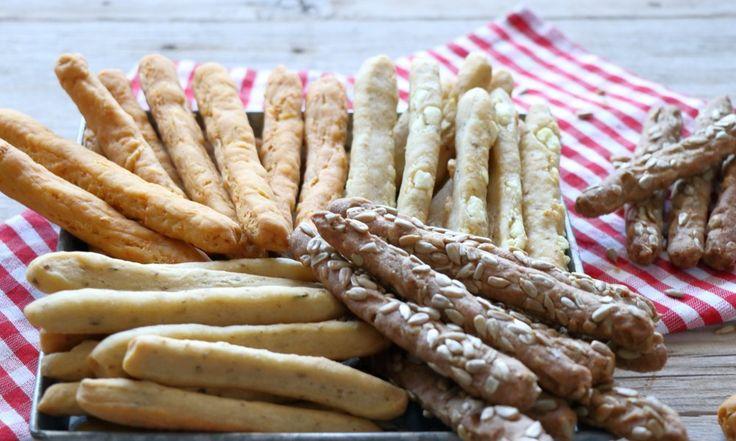 Κριτσίνια, το υγιεινό σνάκ: Με καρότο – Με φέτα – Ολικής άλεσης με ηλιόσπορους