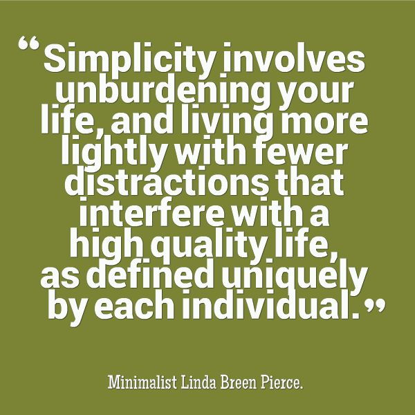 reduce midlife stress. minimize. downsize. declutter | The Simple Life | Pinterest | Minimalism, Let it be and Minimalist