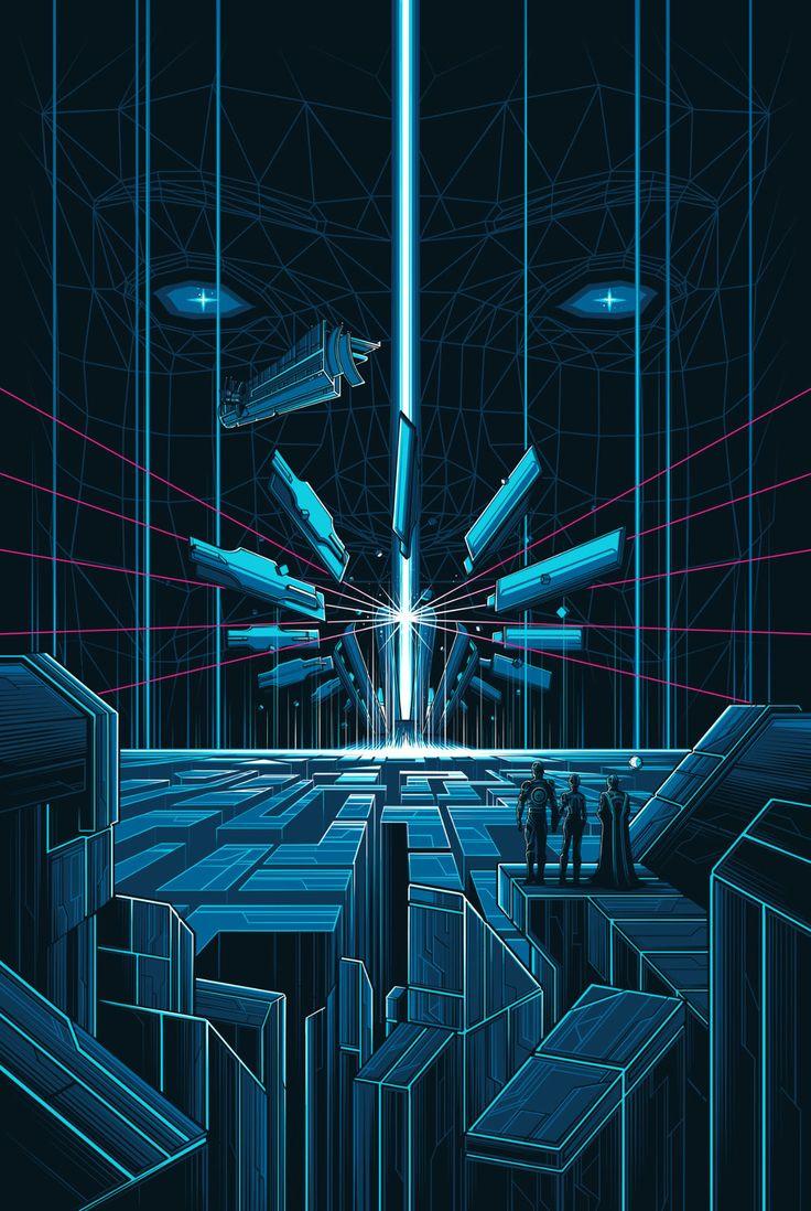 """Tron"" by Dan Mumford"