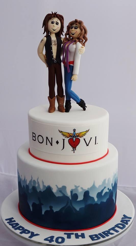 Bon Jovi Cake Made For My 40th Birthday Kelly S Cake