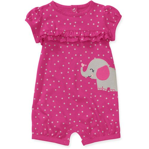 Child of Mine by Carters Newborn Girls' Dot Elephant Romper
