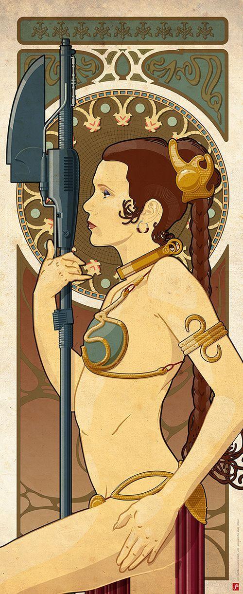 Slave Leia Art Nouveau OC - Imgur