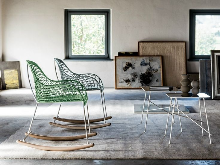 Guapa, the new seatings collection by Midj #rocking #chairs
