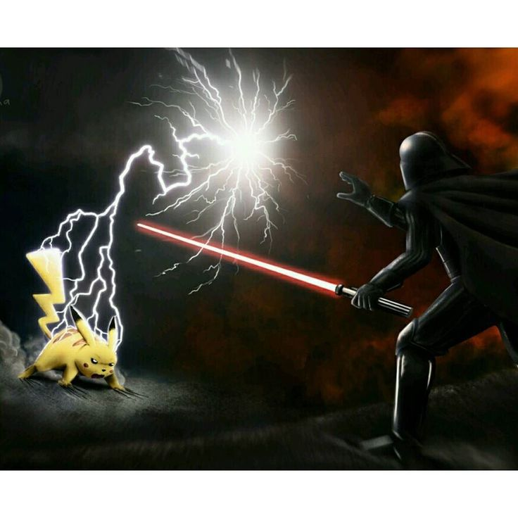 gaming1empire: #Art by Chris Masnaghetti #pikachu#darthvader#pokemon#starwars#nintendo#ninstagram#disney#georgelucas#jjabrams#theforceawakens#force#theforce#jedi#sith#sithlord#vader#lordvader#galacticempire#gamfreak#gameboy#3ds#pokemongo#pokken#pkmn#badass#fanart#artwork #gameboy #microobbit