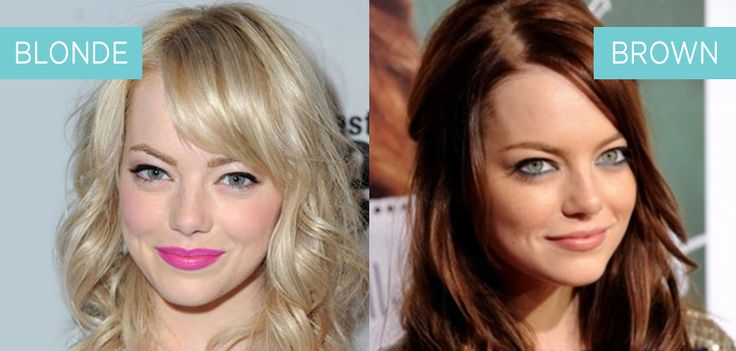 We love Emma Stone regardless of her hair colour - but which do you prefer, Blonde or Brown on Emma - This or That? #bellabox