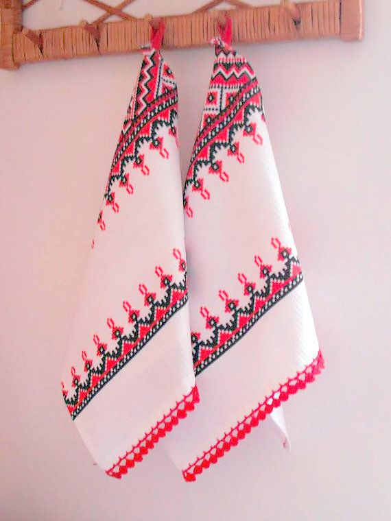 Cotton kitchen towels by LadyBugCo