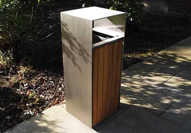Blueton Limited - The new name in street furniture - Ref 046.01 Stainless Steel Litter Bins - www.bluetonltd.com