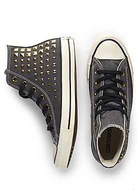 Gold Stud Converse-I <3 these!