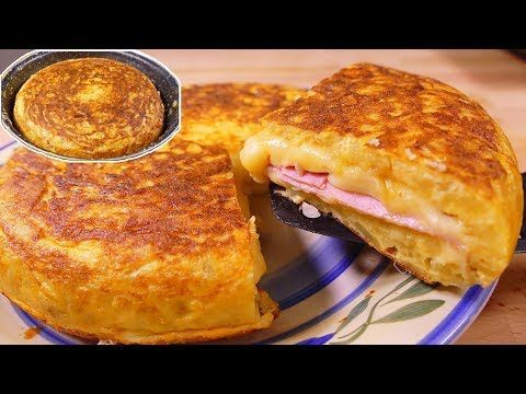 Tasty  Spanish potato omelette SANDWICH style  easy food recipes for dinner to make at home