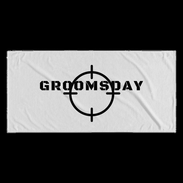 Groomsday Beach Time Towel