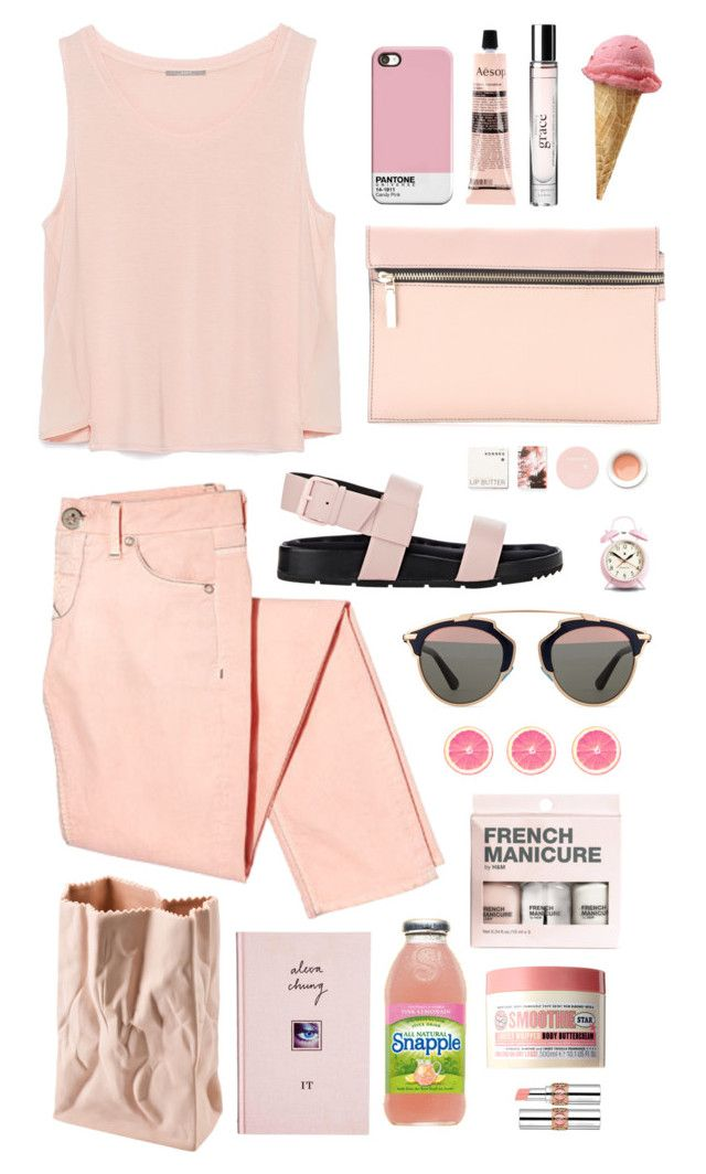 On Wednesdays We Wear Pink by amadewi on Polyvore featuring polyvore, fashion, style, Zara, Balenciaga, Victoria Beckham, Christian Dior, Yves Saint Laurent, philosophy, Korres, Soap & Glory, Aesop, H&M, Rosenthal, Newgate Clocks and ASOS