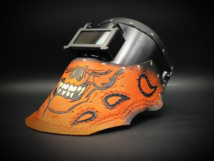 Skull with Paisley Welding Hood.
