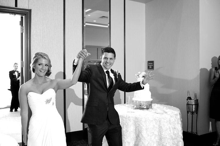 Wedding Reception Grand Entrance at the Hilton Garden Inn Virginia Beach Oceanfront.