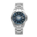 Fossil Men's AM3996 Degrade Stainless Steel Blue Dial Watch (Watch)By Fossil