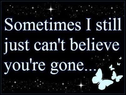 Sometimes I still just cant believe your gone quotes quote miss you death loss sad quotes heaven in memory