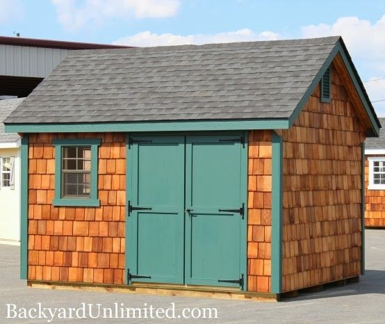124 best images about storage sheds studios backyard for Cedar shingle shed