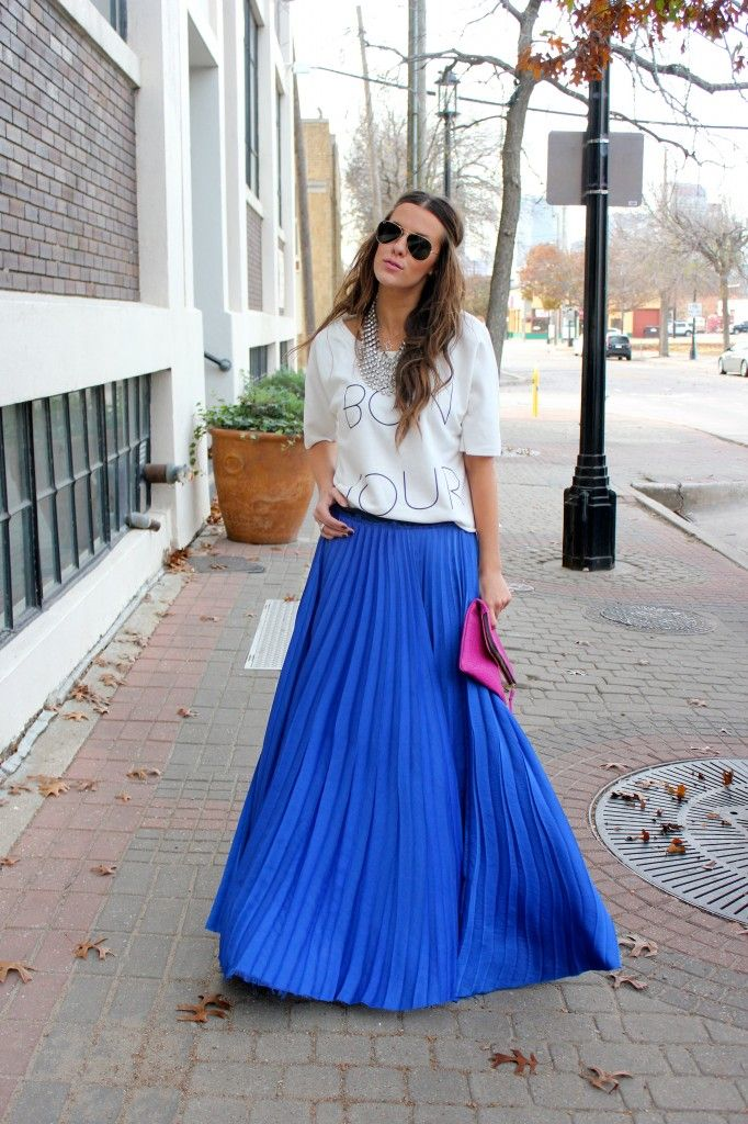 What Courtney Wore: Walkability with a maxi + sweatshirt combo