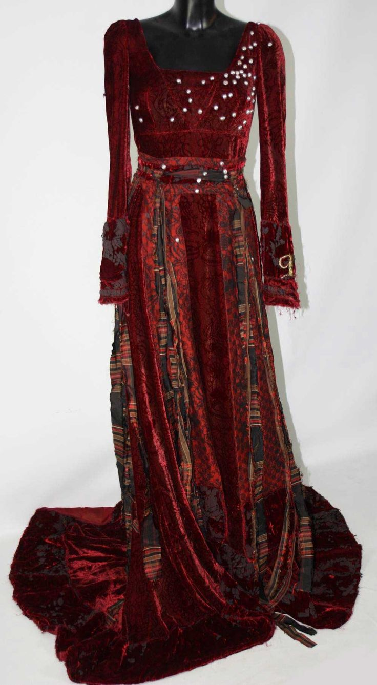 Maria's Red Pearl Gown - Secret of Moonacre