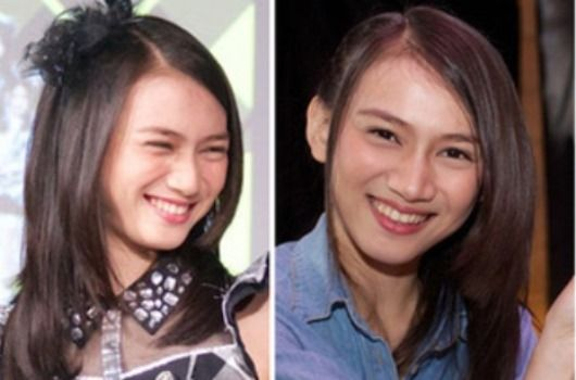foto melody jkt48 gingham check