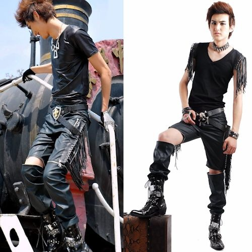 best cool tassel punk rocker fashion casual pants shorts