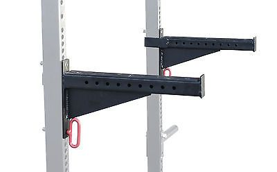 """86256 sporting-goods Spotter Arms for HD power Rack with 2x3"""" tubes bench press squat lift safety  BUY IT NOW ONLY  $69.0 Spotter Arms for HD power Rack with 2x3"""" tubes bench press squat lift safety..."""